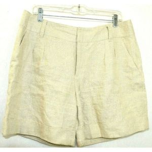 Michael Kors Women Shorts Linen Beige